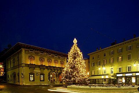 Rosmini square, Rovereto, Trentino Alto Adige, Italy
