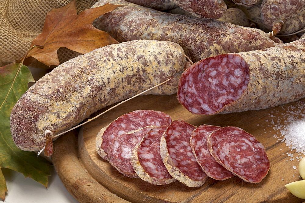 Salami, Belli delicatessen, Sopramonte, Trentino Alto Adige, Italy
