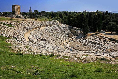 Greek amphitheatre, Syracuse, Sicily, Italy