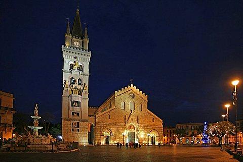 Piazza Duomo, Messina, Sicily, Italy