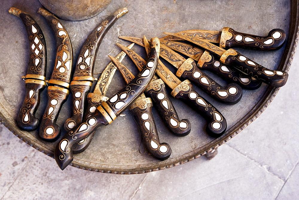 Handcraft daggers at the Bazaar, Gaziantep, Turkey, Europe