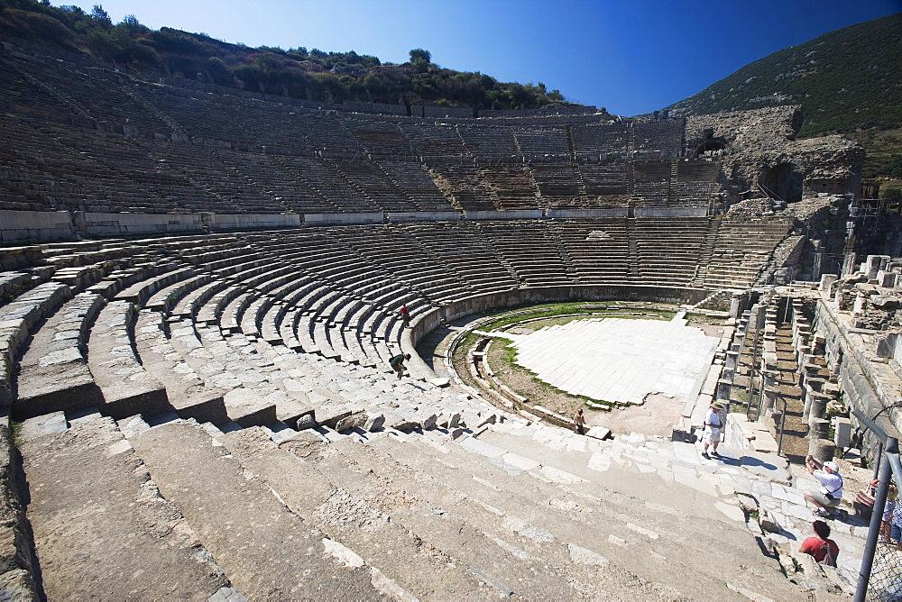 The Great Theatre with Arcadian Way, Ephesus, Kusadasi,Turkey, Europe