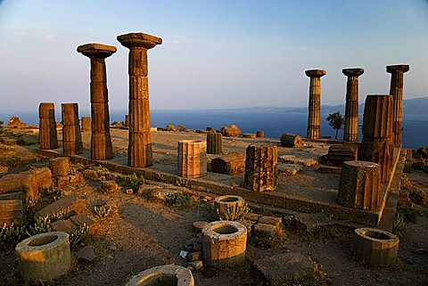 The Greek Temple of Athena, Assos, Behramkale, Turkey, Europe