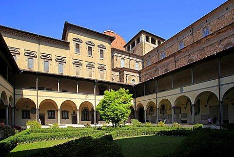 San Lorenzo's cloister, Florence,Tuscany,Italy