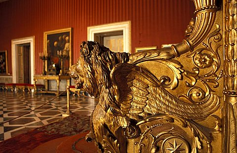 Throne room, Palazzo Reale, Naples, Campania, Italy