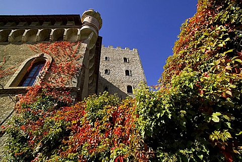 Castle of  Villa d'Ayala  Valva,  river Sele valley, Salerno, Campania, Italy, Europe