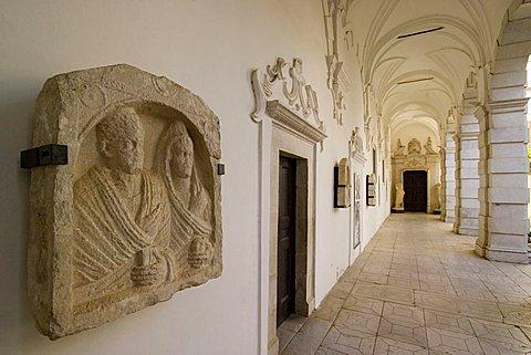 Lapidarium of Archeological Museum of Western Lucania, Certosa di San Lorenzo, Padula, Vallo di Diano, Salerno, Campania, Italy, Europe