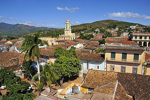 Cityscape from Museo Municipal de Historia, Trinidad, Cuba, West Indies, Central America