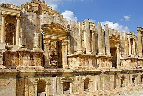 The Roman south theater, Jerash, Jordan, Middle East