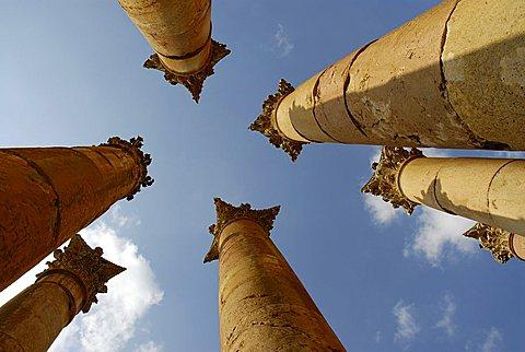 Artemide temple, Jerash, Jordan, Middle East