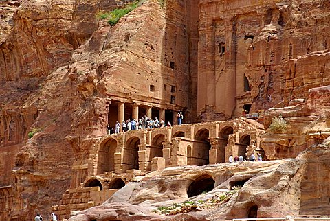 Nabatean Corinthian tomb, archaeological site of Petra, Jordan, Middle East