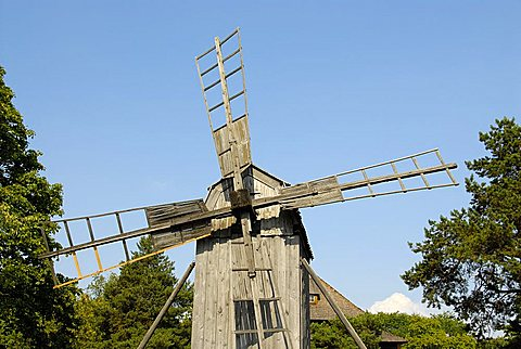 Windmill, Skansen, open air museum, Djurgården island, Stockholm, Sweden, Scandinavia, Europe