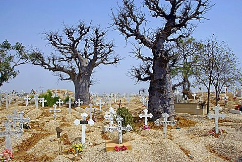 Christian cemetery, Joal-Fadiouth, Republic of Senegal, Africa