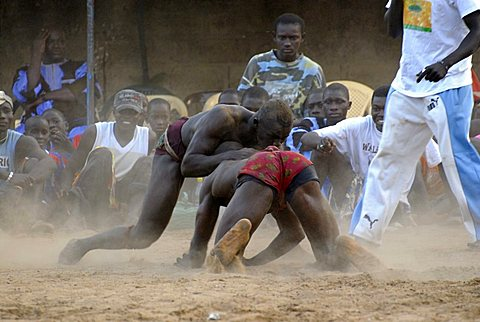 Traditional fight, Ndangane, Republic of Senegal, Africa
