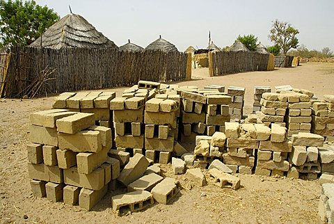 Mud bricks, Republic of Senegal, Africa