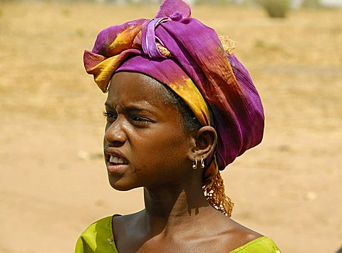Peul young woman, Republic of Senegal, Africa