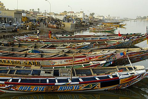 Pirogue, Saint-Louis, Republic of Senegal, Africa