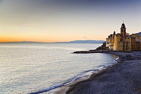Sunset at Camogli, Ligury, Italy