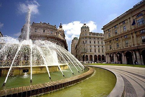 Piazza De Ferrari square, Genoa, Ligury, Italy