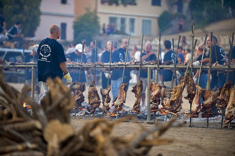 Feast of the Goat, Sagra della capra,  Santa Maria Navarrese, Baunei, Ogliastra,  Sardinia,  Italy,