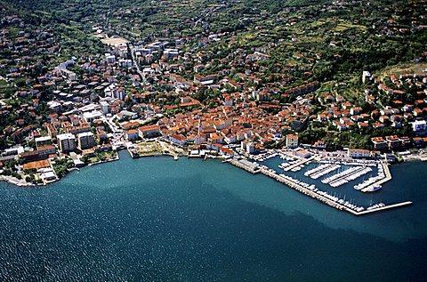 aerial view Muggia, Trieste, Friuli Venezia Giulia, Italy