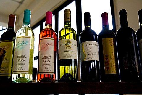 Bottles, Santa Barbara cellar, San Pietro Vernotico, Puglia, Italy