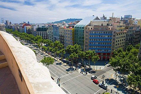 View, Passeig de Gràcia, Barcelona, Spain, Europe