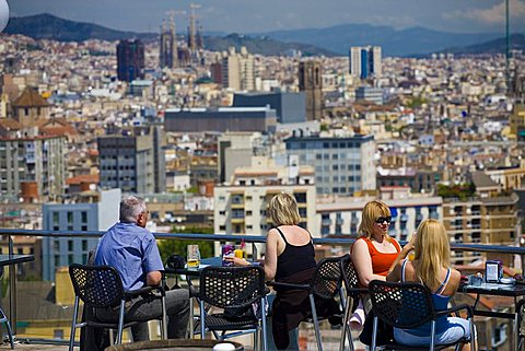 City view, Barcelona, Spain, Europe
