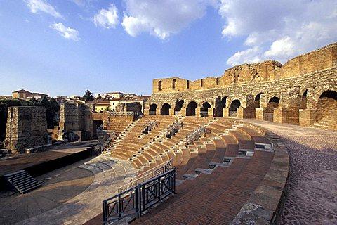 Roman theatre, Benevento, Campania, Italy