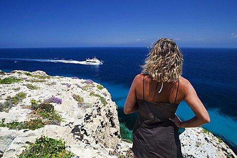 Favignana island, Aegadian Islands, Sicily, Italy