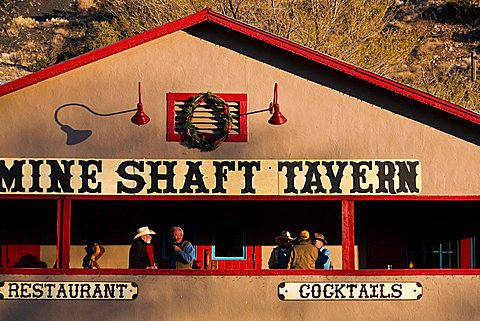 Typical restaurant, Madrid, New Mexico, United States of America, North America