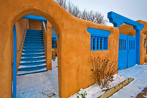 Typical architecture, Taos, New Mexico, United States of America, North America