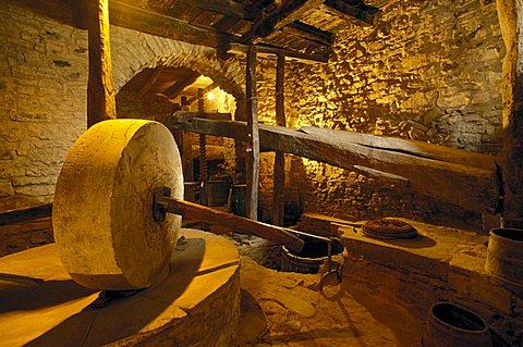 Antique crusher, Ortodonico, Parco Nazionale del Cilento e Vallo di Diano, Campania, Italy.