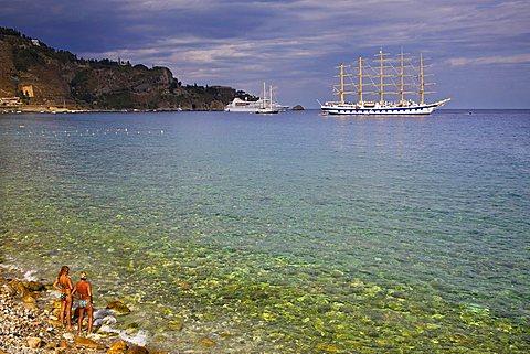 Beach, Costa Giardini, Messina, Sicily, Italy, Europe