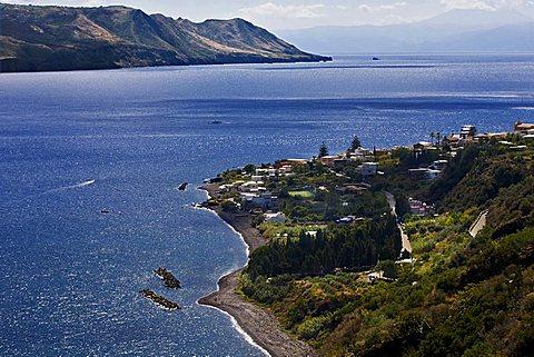Coast, Salina Island, Messina, Sicily, Italy, Europe
