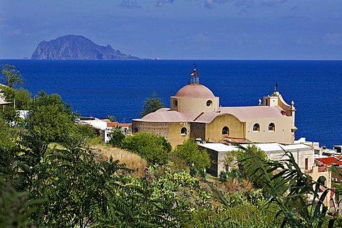 Santa Marina Village, Salina Island, Messina, Sicily, Italy, Europe