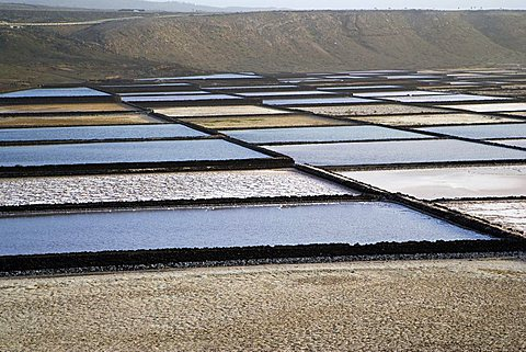 Salt pans near Yaiza, Lanzarote, Canary Islands, Spain