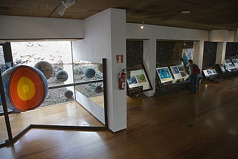 Visitors center, interior, Timanfaya National Park, UNESCO biospherical Reserve, mancha Blanca,  Lanzarote, Canary Islands, Spain