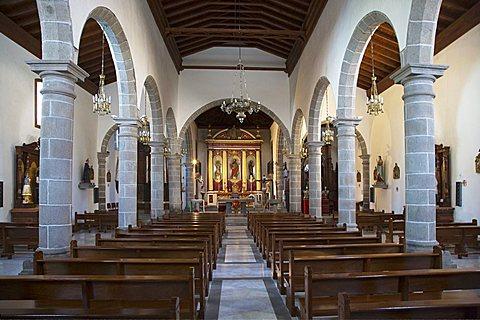 "The triple-nave parish church ""Iglesia de San Bartolomé"", San Bartolomè de Tirajana, Gran Canaria, Canary Islands, Spain, Europe"