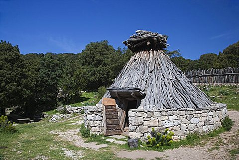 "A very old house of an herdsman named ""Quile"" restored, it is located in a place called ""Sa Portiscra"" in the Supramonte of Urzulei, Gennargentu and Orosei Gulf National Park,  Sardinia, Italy, Europe"