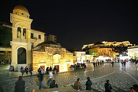 Monastiraki square, Monastiraki district, Athens, Greece, Europe
