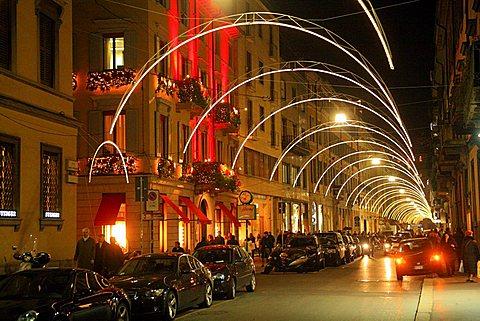 Via Montenapoleone street, Milan, Lombardy, Italy, Europe