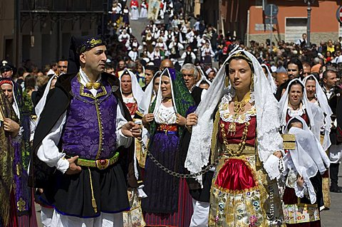 Cagliari, Sant'Efisio traditional event, the most important religious feast in Sardinia, Italy, Europe
