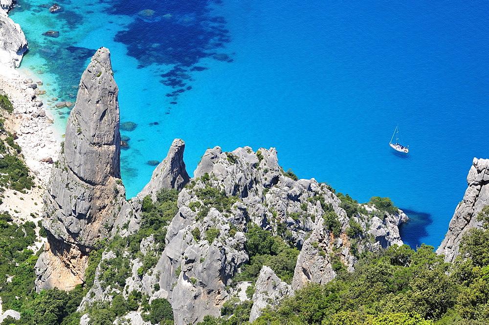 Goloritzè bay, Golfo do Orosei gulf, Ogliastra, Sardinia, Italy, Europe