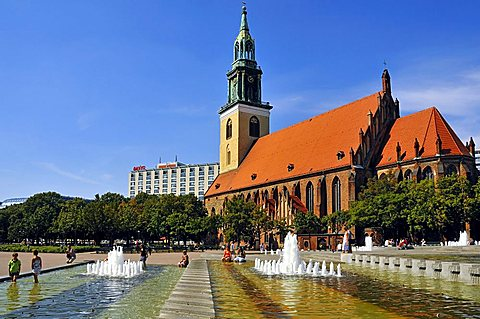 Marienkirche church, Alexanderplatz, Berlin-Mitte Quarter, Berlin, Germany, Europe - 746-71711