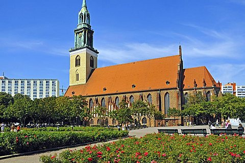 Marienkirche church, Alexanderplatz, Berlin-Mitte Quarter, Berlin, Germany, Europe