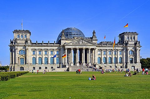 Reichstag building, Berlin, Germany, Europe