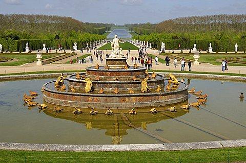 Bassin de Latone, Palace of Versailles, Versailles, Paris, Ile-de-France, France, Europe