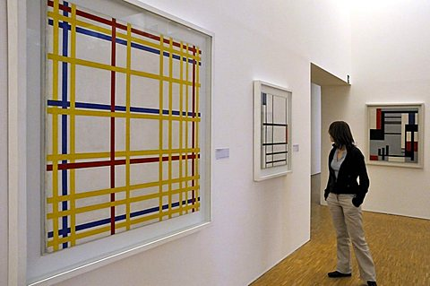 Piet Mondrian, Musee National d'Art Moderne, Centre Georges Pompidou, Beaubourg, Paris, Ile-de-France, France, Europe