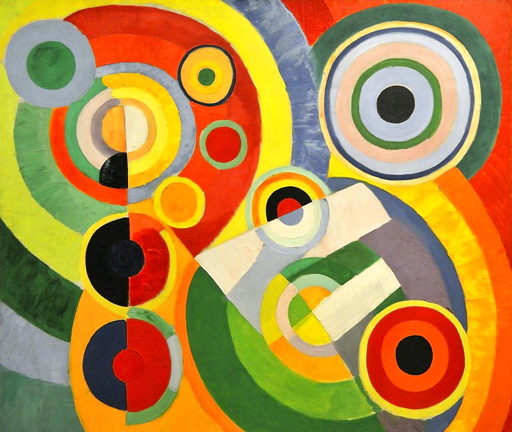 Rhythm, Joie de Vivre, Robert Delaunay, Musee National d'Art Moderne, Centre Georges Pompidou, Beaubourg, Paris, Ile-de-France, France, Europe